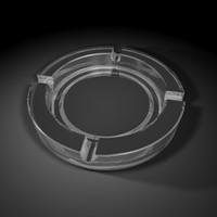 3d model ashtray ash