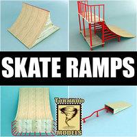 skate ramps 3d max