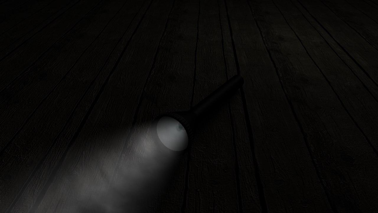3d model flashlight light