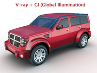 3ds max dodge nitro modeled car