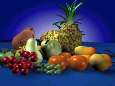 3d 3ds fruits