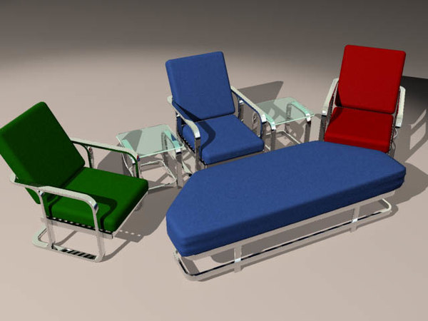 3d chair ottoman tables