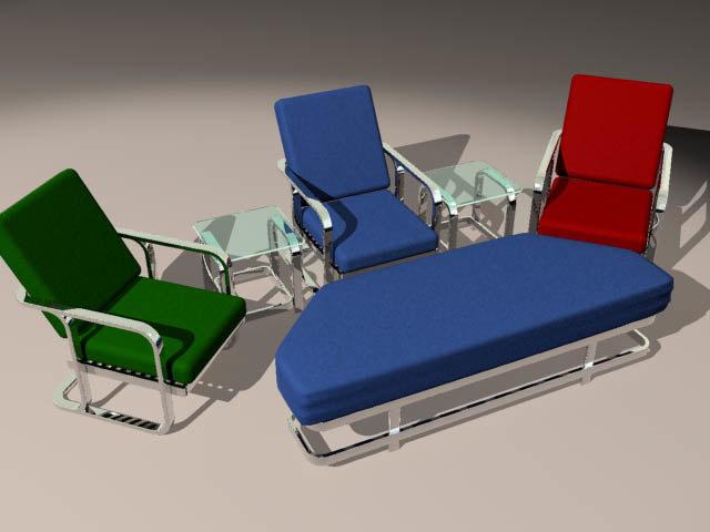 3d chair ottoman tables