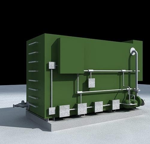 3d industrial rheostat model