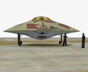 vril vril1 fighter 3d model