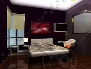 bedroom living dining 3d model