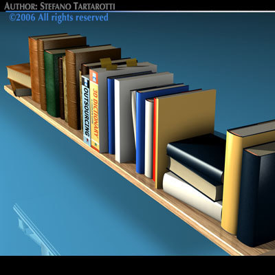 books shelf 3ds