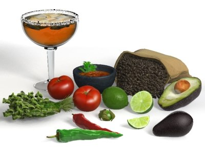 3d food mexican setting model