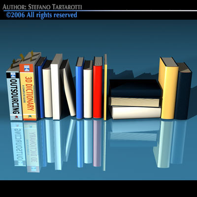 3d modern books