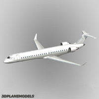 3d bombardier crj-900 generic white