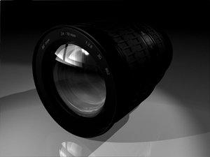 camera slr zoom lens 3d model