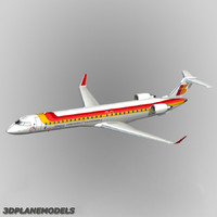 bombardier crj-900 iberia air 3d model