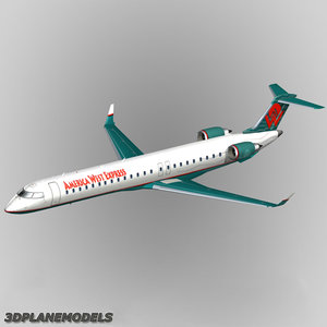 bombardier crj-900 american west 3ds
