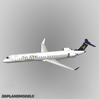 bombardier crj-900 air 3d model