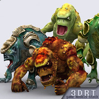 20-Trolls-monsters-pack-animated-X-max7-ms3d-dts