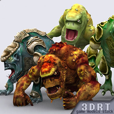 troll monsters 3d model
