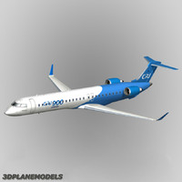 3d model bombardier crj-900 house colours