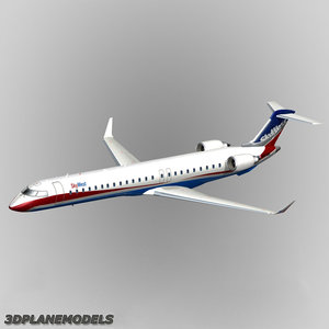 3d model bombardier crj-900 skywest