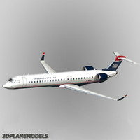 3d bombardier crj-900 airways model