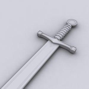 excalibur sword 3d model