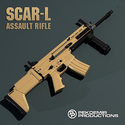 fn scar-l assault rifle 3d model