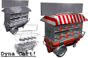 free dynamite cart 3d model
