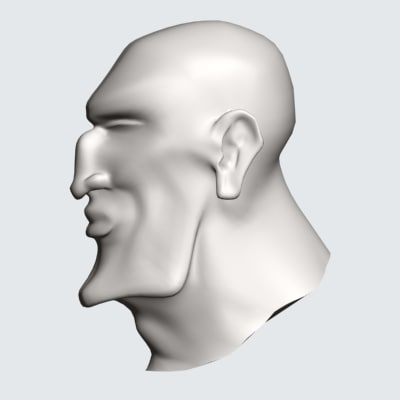 3d model stone head
