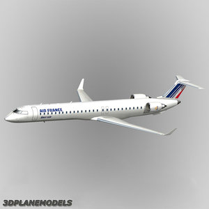 bombardier crj-1000 air france 3d model