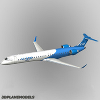 bombardier crj-1000 house colours 3d model