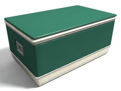 3d model green cooler