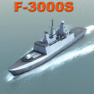 royal frigate f3000s 3d model