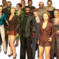 FS Pedestrian Characters (28 models)