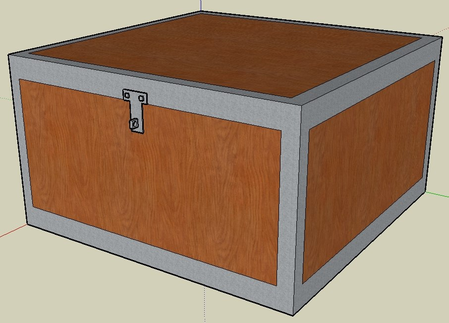 cool wooden chest 3d 3ds