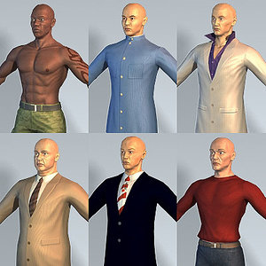 3d 6 characters hitman