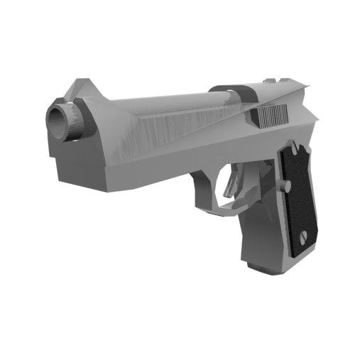 3d model beretta 51 pistol gun