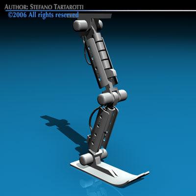 3ds max robot leg