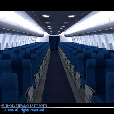 interior airliner train 3d 3ds