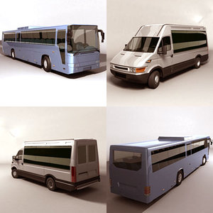 intercity coach van 3d model