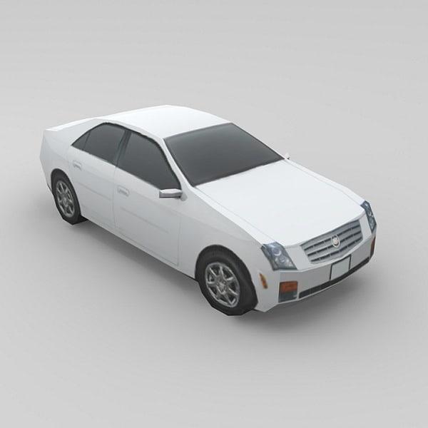3d car cadillac cts model
