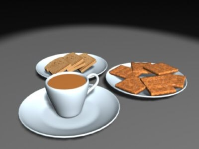 3ds max simple breakfast