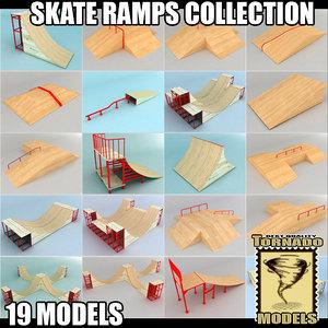 skate ramps 3d model