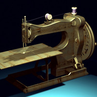 antique sewing machine 3d model