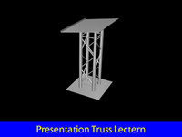 3ds max truss style lectern
