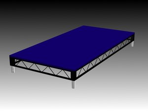 3d model 8x4 staging