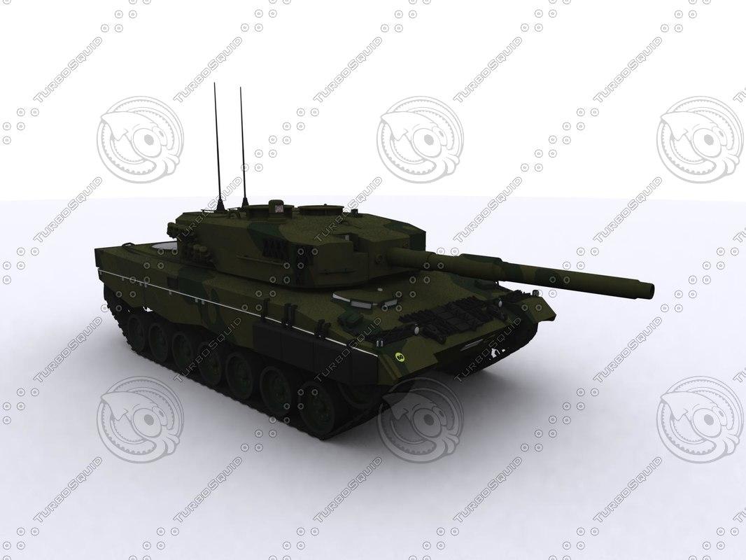 3d leopard 2a4 tank