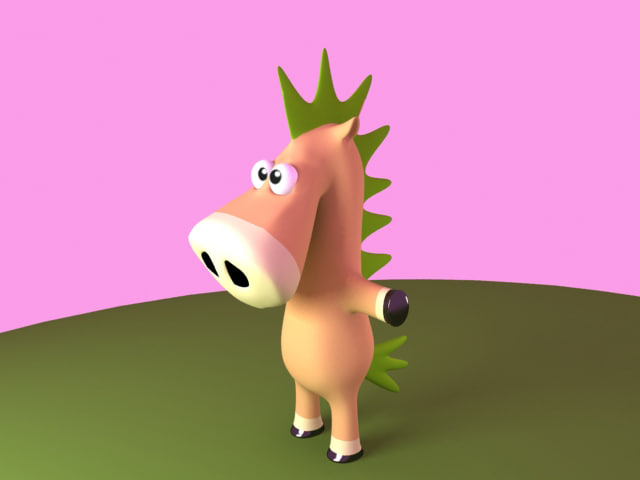 3ds horse cartoon