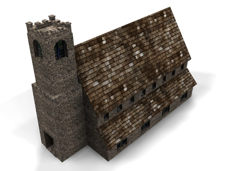 chapel church 3d max