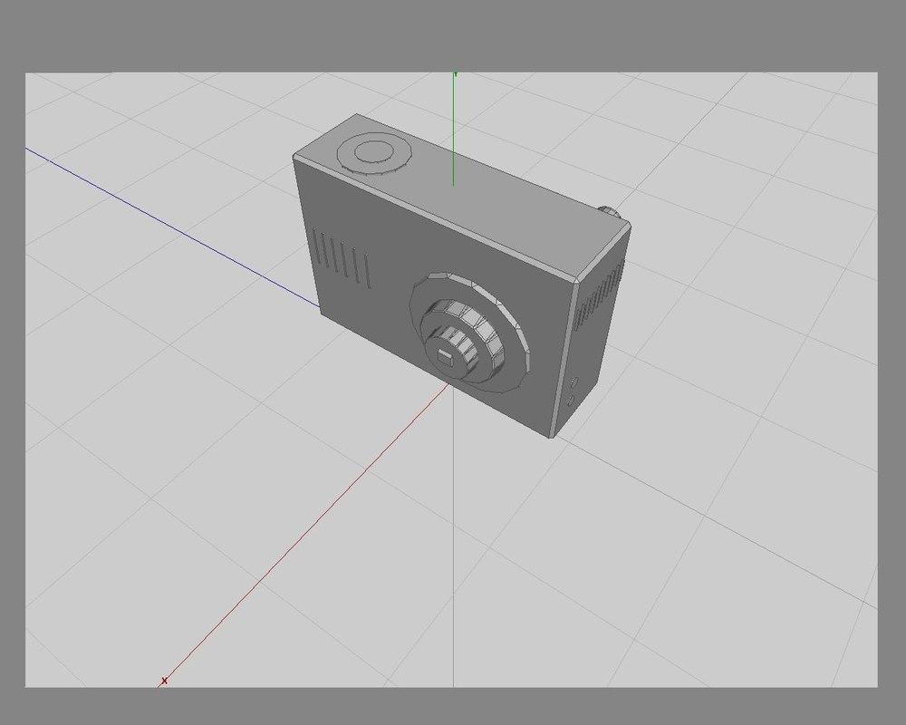 3d camera digital model