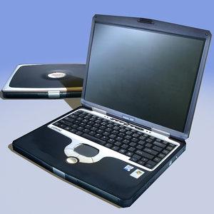 notebook compaq 3d model