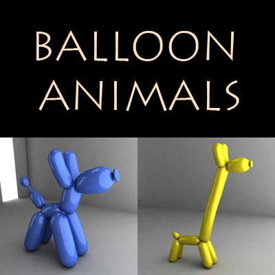 baloon 3d model